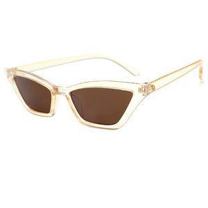 Cat Eye Y2K Eiffel 65 Aqua Vengaboys Sunglasses BROWN